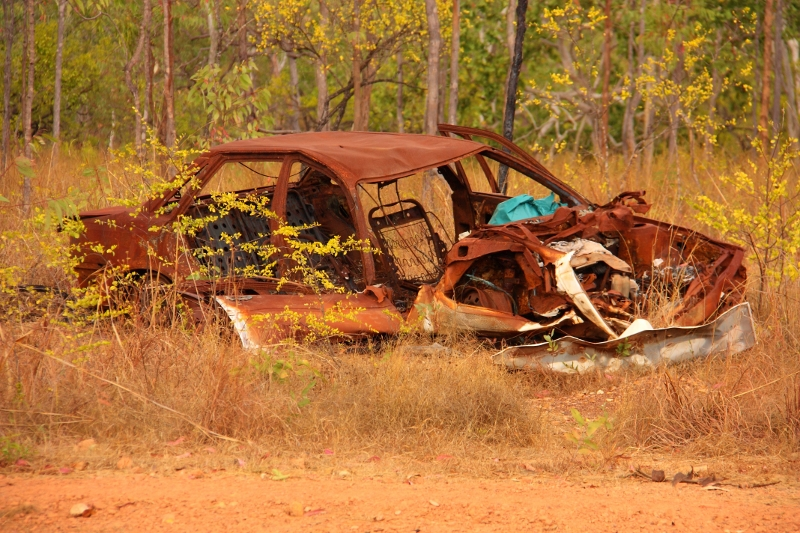 7  holden commodore VK 1985 outback wreck portland road