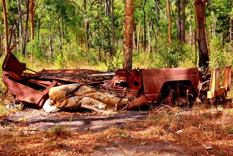 9 nissan patrol MQ 1987 wreck portland road near lockhart river