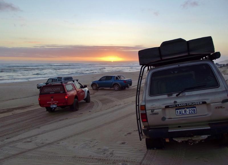 driving along yeagarup beach