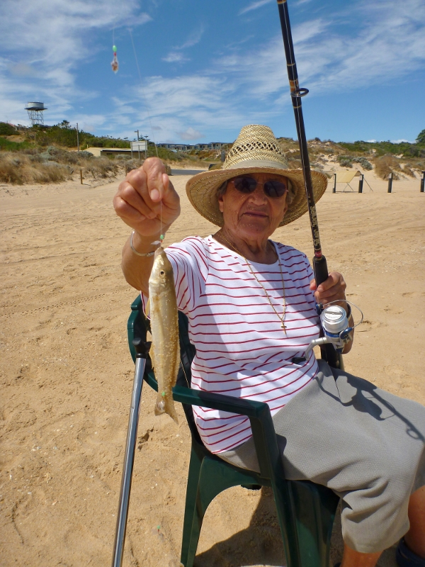 nonna caught a whiting at myalup