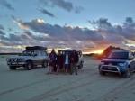 yeagerup sand dunes sunset