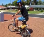 struts on the bike