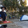 joe preparing roast chicken