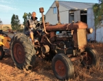 old tractor on uncle micks farm