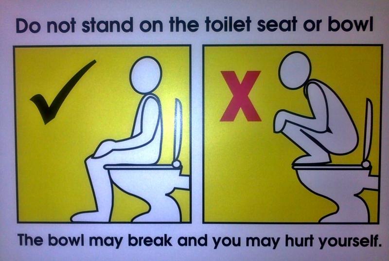 no squatting