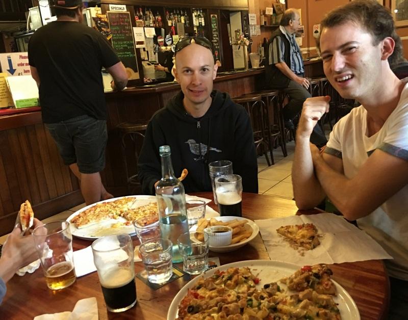 pizza at pemberton hotel