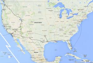 USA outbackjoe route map