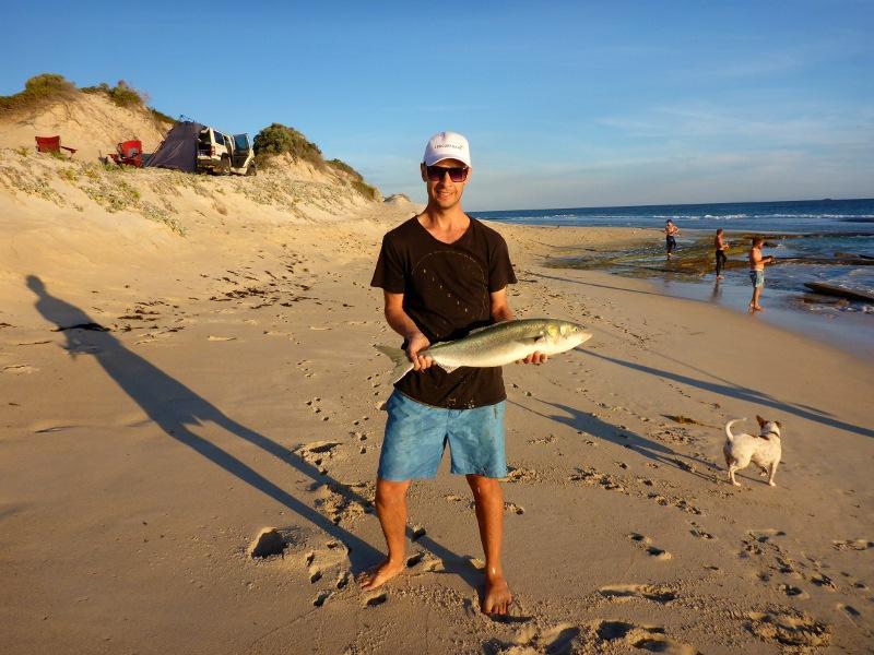 joe with salmon