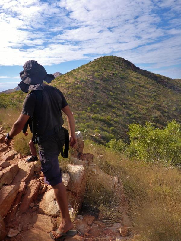 climbing up mt sonder