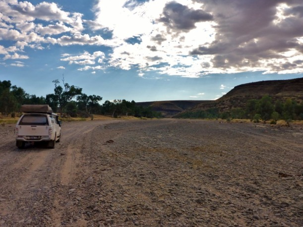 Driving on Finke River