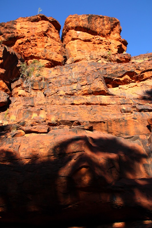palm valley cliff face