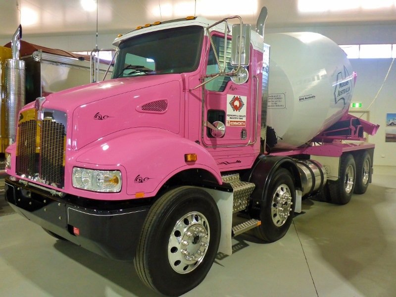 alice springs pink cement mixer