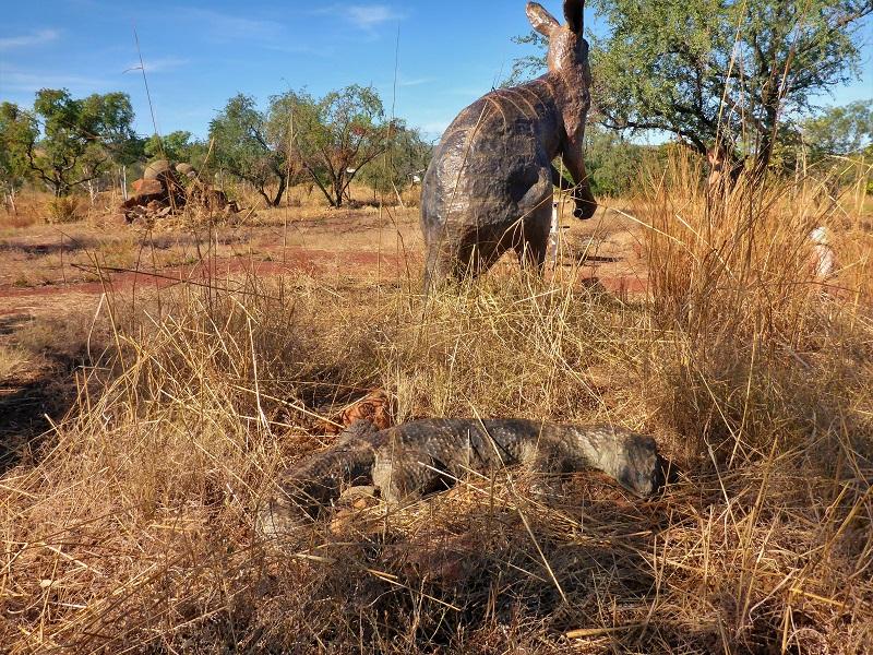 Warriu Park Dreamtime Statues kangaroo