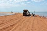 fishing off spoil bank port hedland