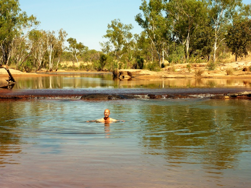swimming at gibb river crossing