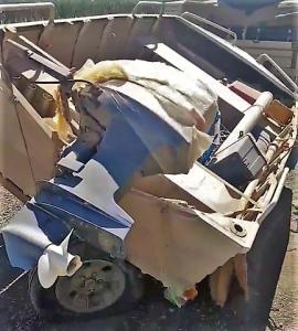 boat broken axle