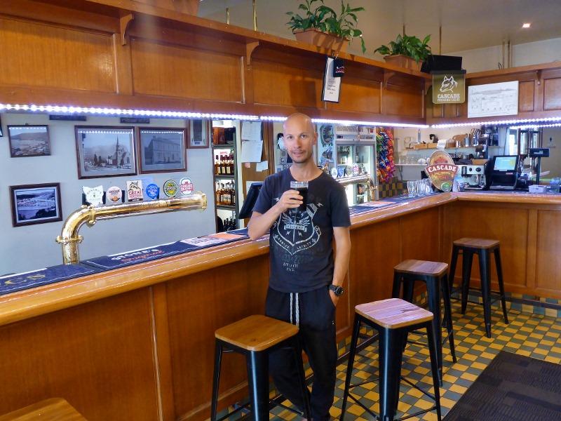cascade hotel drinking beer