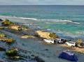 camp at beach