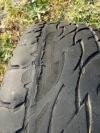 d697 bridgestone worn tyres