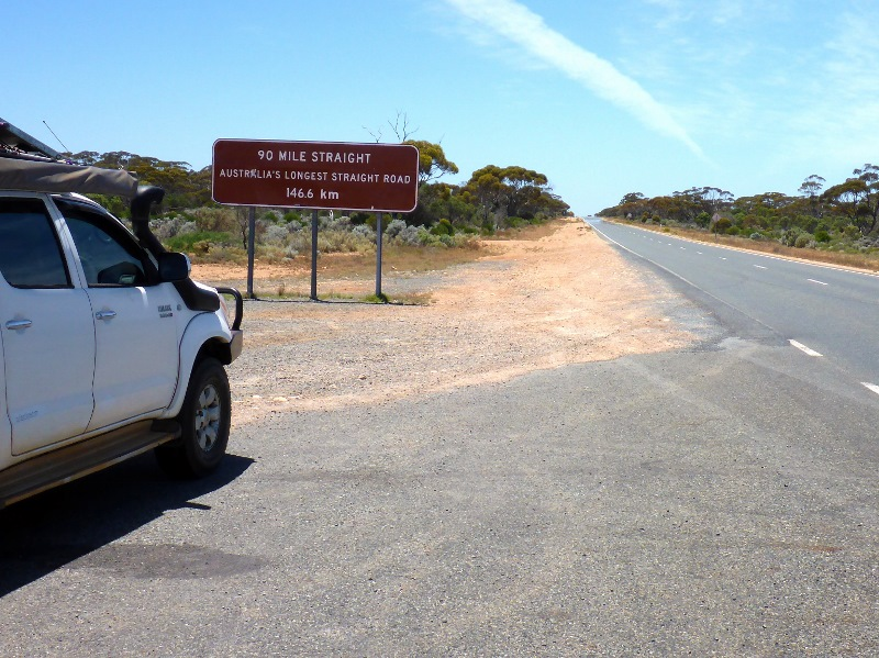 start of nullarbor 90 mile straight