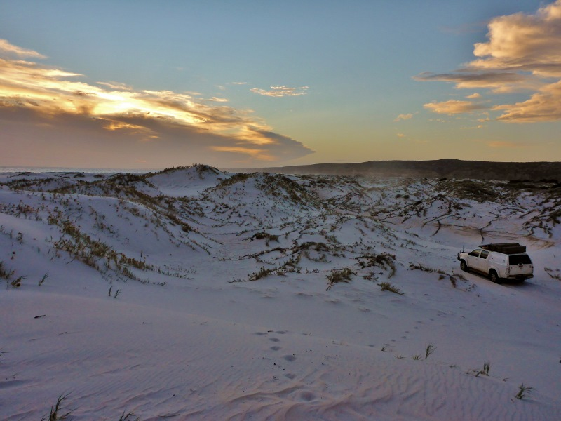 track through dunes to twilight cove