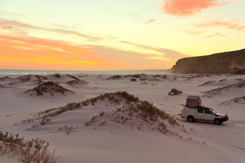 twilight cove great australian bight sunset
