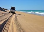 boggy narrow sloping beach coorong