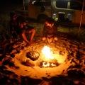 beach camp fire camp oven roast