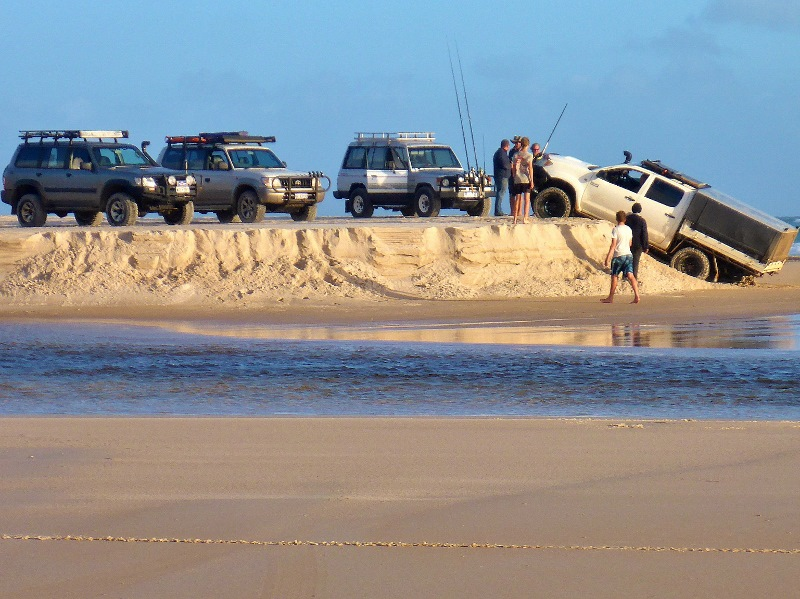 warren river mouth vehicles parked