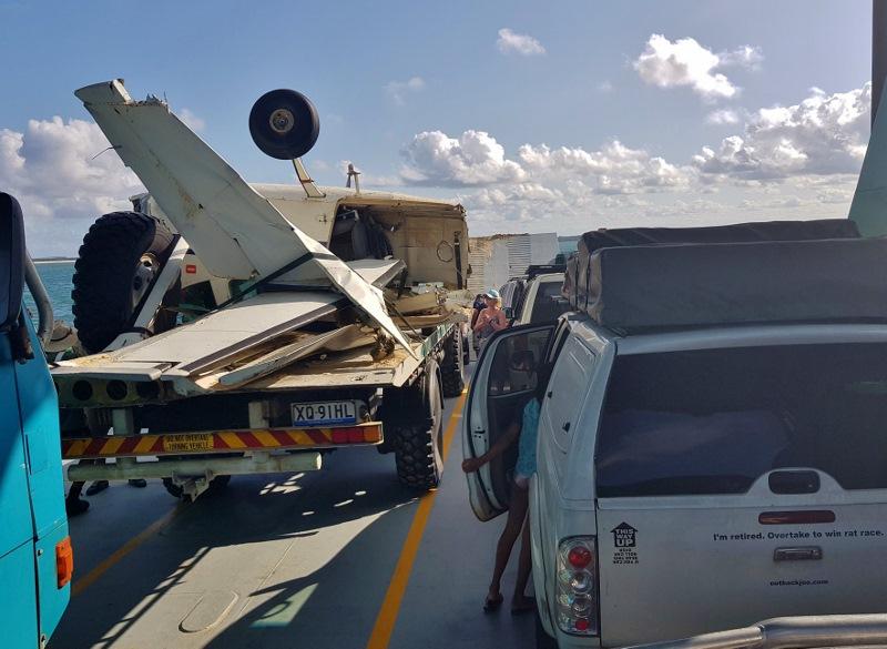 fraser island plane crash wreck