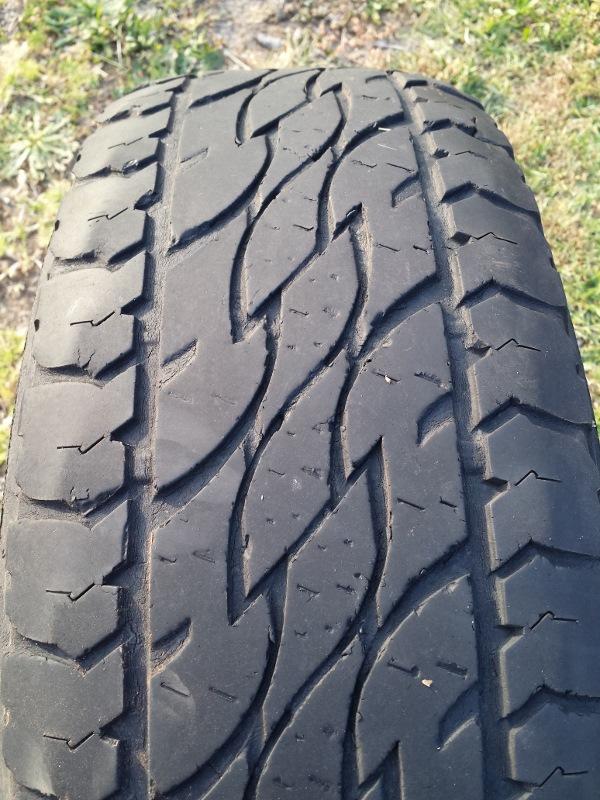 bridgestone d697 rear tyre tread wear