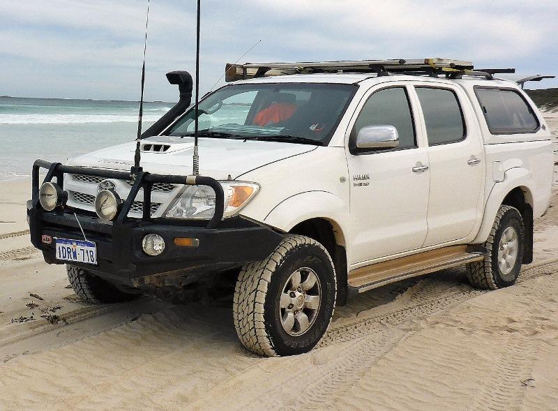 hilux beach driving